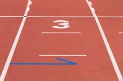 Friidrottspår 7 Fotografering för Bildbyråer