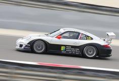 Frijns结构钢的Rob Frijns赛跑在保时捷GT3杯期间的2013年 免版税库存照片