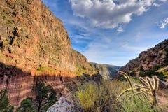 Frijoles kanjon, Bandelier nationalpark Arkivbilder