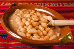 Frijoles, polewka fasoli meksykański jedzenie, Mexico - miasto obrazy royalty free