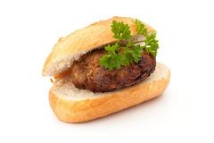 Frikadeller - Bulette, Brötchen und Petersilie Royalty Free Stock Photo