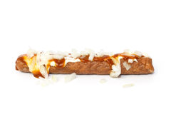 Frikandel speciaal, a Dutch fast food snack Stock Photo