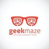 Friki Maze Vector Concept Symbol Icon Fotos de archivo libres de regalías