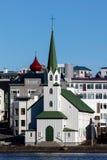 Frikirkjan kyrka i Reykjavik, Island Royaltyfri Foto