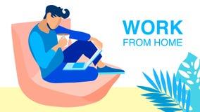 Frilans- för vektorbaner för arbete hemifrån begrepp royaltyfri illustrationer