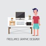 Frilans- grafisk formgivare - Arkivfoton