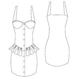 Frilled bustier dress Stock Images