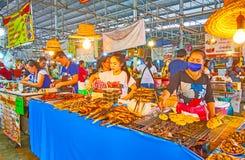 The frilled fish in Talad Saphan Phut market, Bangkok, Thailand