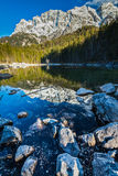 Frillensee lake and Zugspitze in Germany Stock Photography
