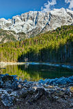Frillensee lake and Zugspitze in Germany Stock Image