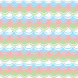 Frills. Pastel color lace frills on dress. Seamless background royalty free illustration