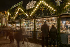 Frills stall at Xmas market , Stuttgart Stock Images