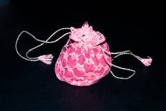 Frilly розовый мешок Стоковые Изображения RF