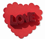 Frilly Heart with Love Royalty Free Stock Image