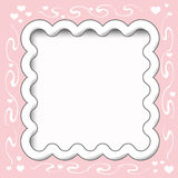 Frilly scrapbook frame Stock Photos