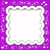 Frilly scrapbook frame Stock Photography