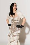 Frilly suknia obraz royalty free