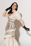 Frilly suknia zdjęcie stock