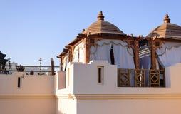 Frilufts- balkong på ett semesterorthotell Royaltyfri Fotografi