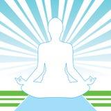 Frilufts- meditation Royaltyfri Foto
