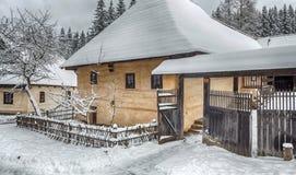 Frilufts- museum i Zuberec, Slovakien Royaltyfri Foto