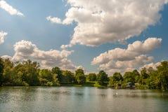 Frilufts- simning är internationellt berömd på den Hampstead heden arkivfoto