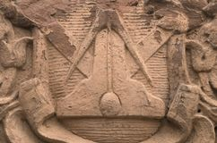 Frimurar- symbol Arkivfoton