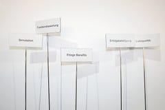 Fringe benefits Stock Photo