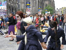 Fringe festival. Edinburgh summer FRINGE festival, Scotland Royalty Free Stock Photos