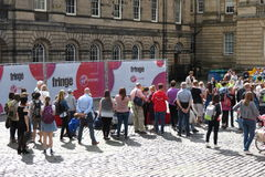 Fringe Festival audience in Edinburgh Royalty Free Stock Photo