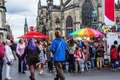 Fringe festival in Edinburgh, 2015, Scotland Royalty Free Stock Image