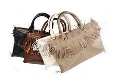Fringe handbags Stock Photography