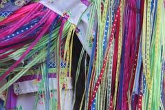 Fringe on scarves Royalty Free Stock Photography