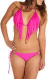 Fringe swim suit pink Royalty Free Stock Photography
