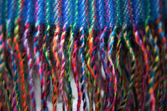 Fringes background. Colorful background of scarf with fringes Royalty Free Stock Image