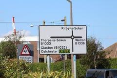 Frinton-su-mare, Essex, Regno Unito Fotografia Stock Libera da Diritti