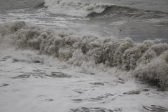 Frio do mau tempo do mar do inverno do Mar Negro da tempestade imagens de stock