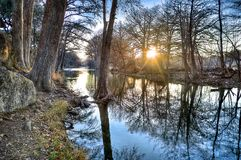 Frio flod, Texas Royaltyfria Bilder
