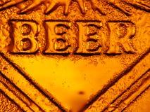 Frio fresco da cerveja imagem de stock