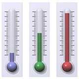 Frio, morno, e quente Fotografia de Stock Royalty Free