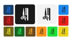 Frisörsymbol, tecken, illustration Arkivbilder