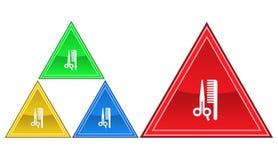 Frisörsymbol, tecken, illustration Arkivfoton