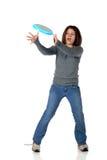 Frisbee-Fangfederblech Lizenzfreie Stockbilder