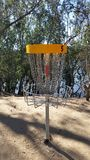 Frisbee golf basket Stock Photography