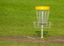 Frisbee golf basket Royalty Free Stock Photography