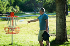 Frisbee golf Royalty Free Stock Images