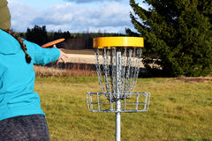 Frisbee golf Royalty Free Stock Image