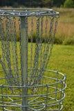 Frisbee golfa dziura obraz stock