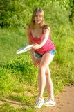 Frisbee player Royalty Free Stock Photography