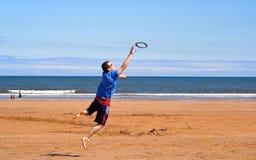 Frisbeefang Lizenzfreie Stockfotos
